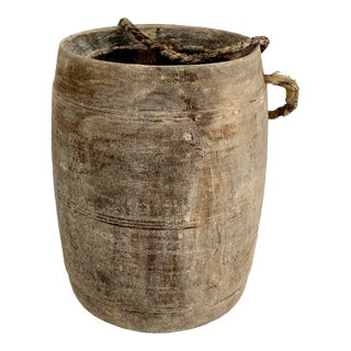 Hanging Rustic Wood Honey Pot For Sale