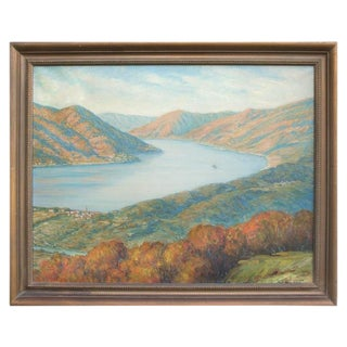 Lake Como, Italy Oil Painting by Piero Tamo For Sale