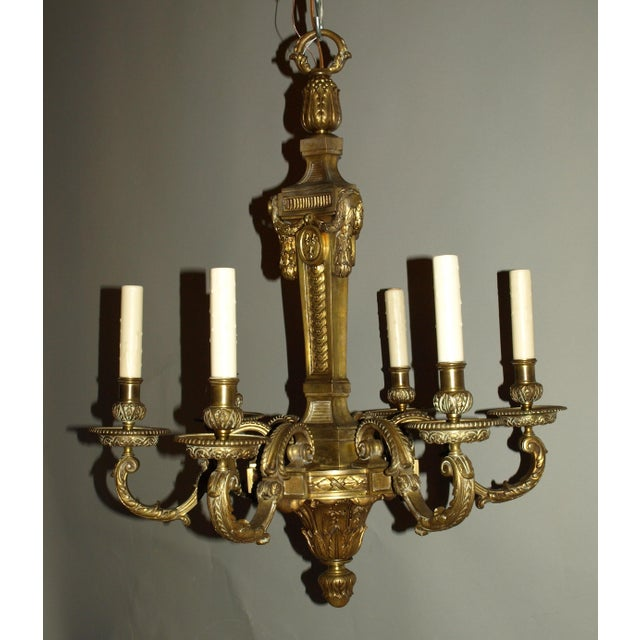 Louis XVI Antique Chandelier in Louis XVI Style For Sale - Image 3 of 8