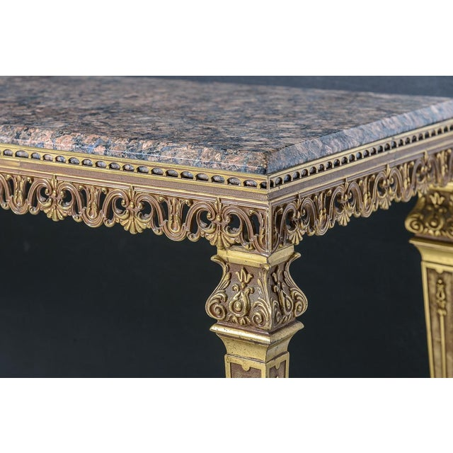 Lovely, bronze and marble coffee table