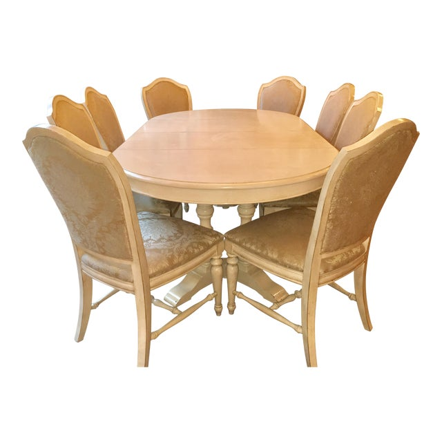 Drexel Heritage Dining Table & Chair Set - Seats 8 - Image 1 of 5