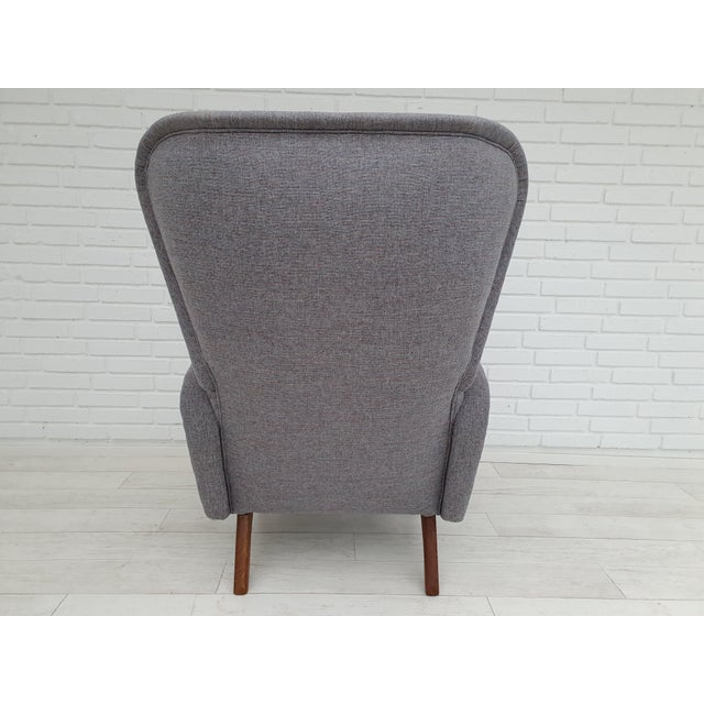 Gray 1970s Vintage Danish Lounge Chair For Sale - Image 8 of 13