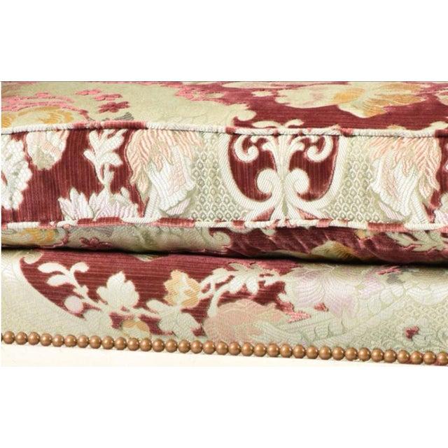 Velvet Chaise Lounge by John Widdicomb - Image 3 of 8
