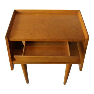 Crawford Mid-Century Modern Nightstand with Drawer