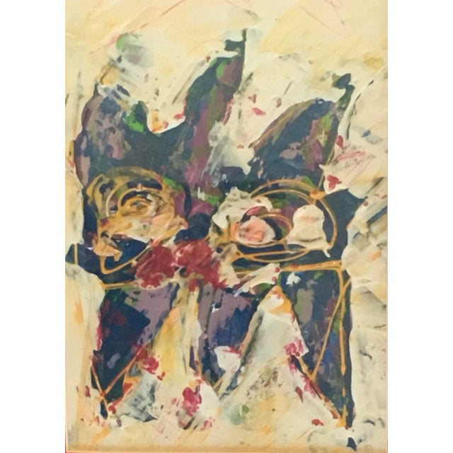 Wallace in 1990s abstract expressionist artist framed