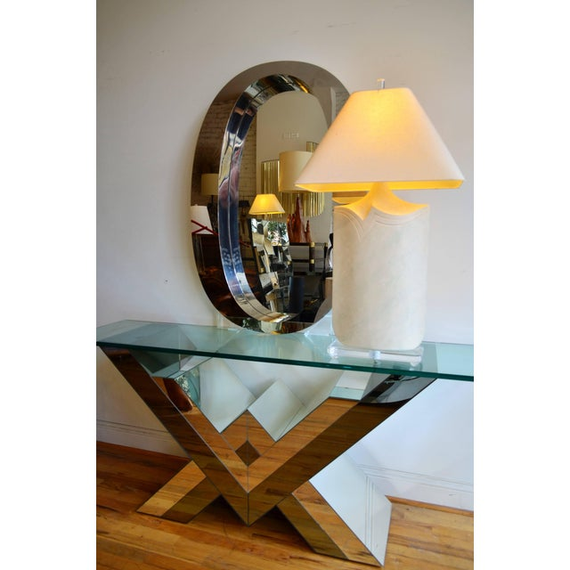 Plastic Large Plaster and Lucite Lamp by Casual Lamps of California For Sale - Image 7 of 11