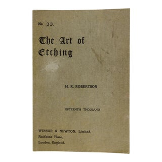 "1890 ""The Art of Etching"" Book For Sale"