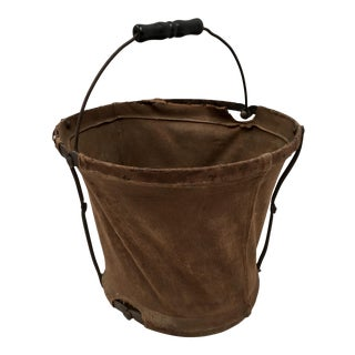 World War II Collapsible Canvas Water Pail