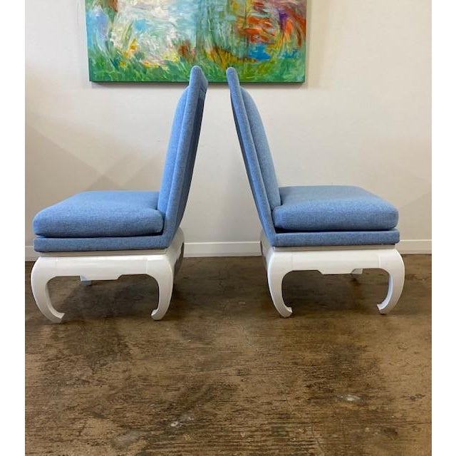 1970s James Mont Style Chairs- a Pair For Sale - Image 5 of 6
