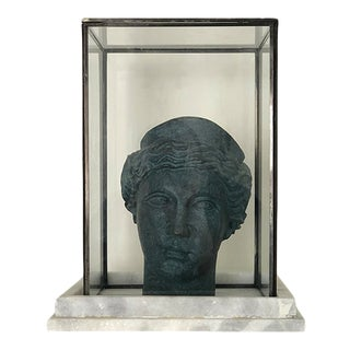 Mid 20th Century Brass Athenian Female Bust For Sale