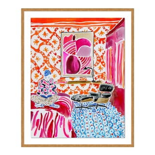 Quiet Moments in a Colorful World by Kate Lewis in Gold Frame, Medium Art Print For Sale