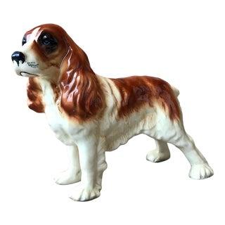 Vintage English Ceramic Spaniel Dog Figurine For Sale