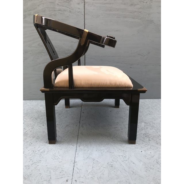 1970s James Mont Ming Chair For Sale - Image 5 of 9