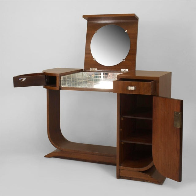 1930s French Art Deco Mahogany Dressing For Sale - Image 5 of 7