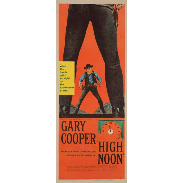 The fantastic country-of-origin US insert for Fred Zinnemann's classic 50s western High Noon, starring Gary Cooper and...