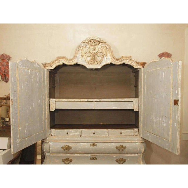 19th C Dutch Painted Buffet Deux Corp - Image 9 of 11