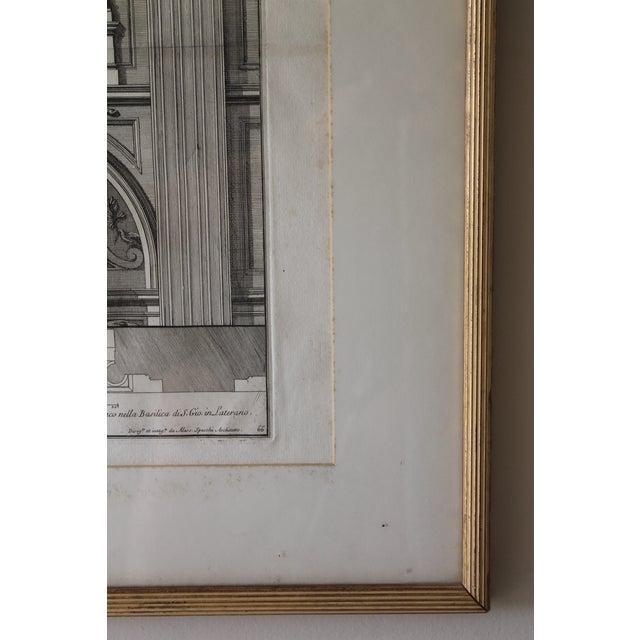 Early 19th Century Antique Prospetto Del Finestreno Architectural Print For Sale - Image 9 of 12