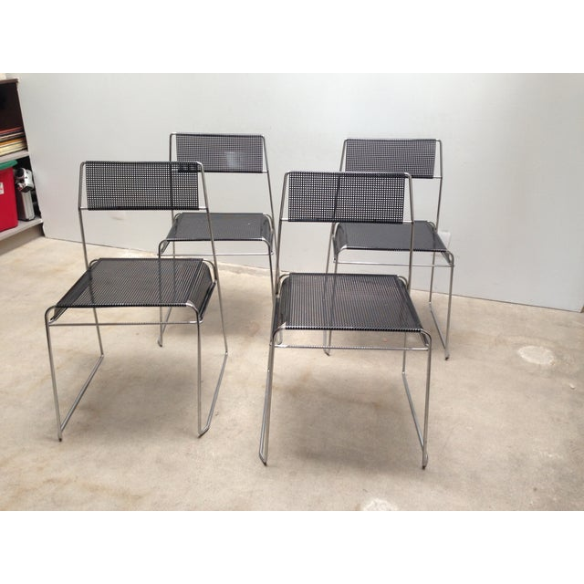 Silver Niels Jørgen Haugesen Modern Dining Chairs For Sale - Image 8 of 9