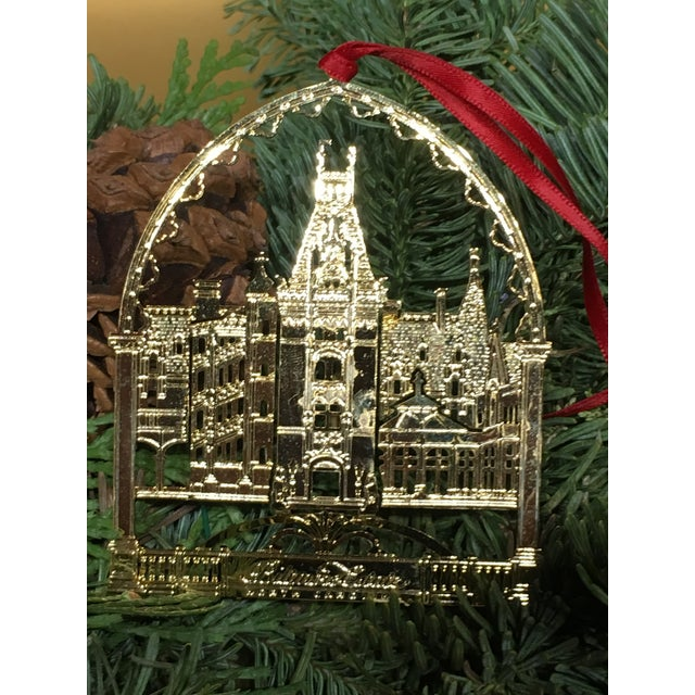 Christmas Tree Ornament depicting the Biltmore Estate Asheville North Carolina.