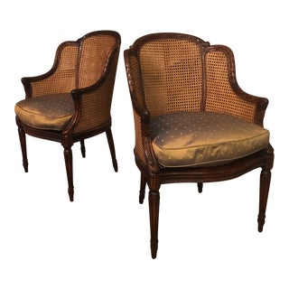 Theodore Alexander Louis Bergère Accent Chairs - a Pair For Sale