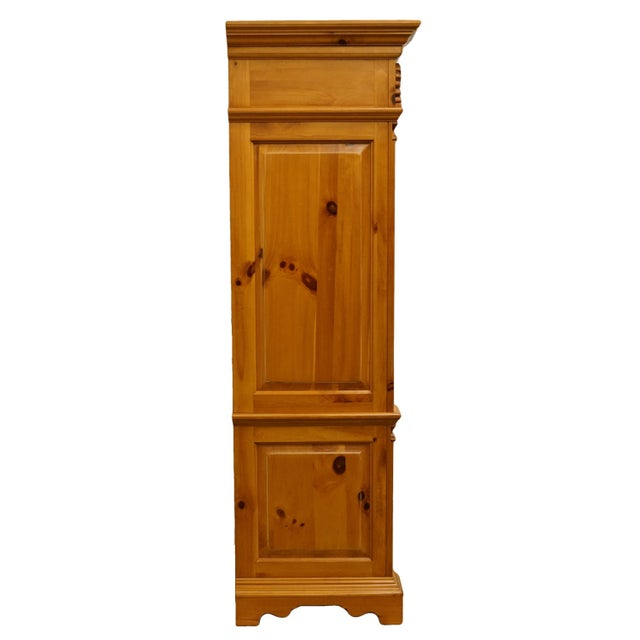 "20th Century French Country Lexington Furniture Solid Pine 48"" Tv Media Armoire For Sale - Image 11 of 13"