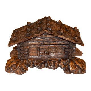 19th C Black Forest Jewelry Box For Sale