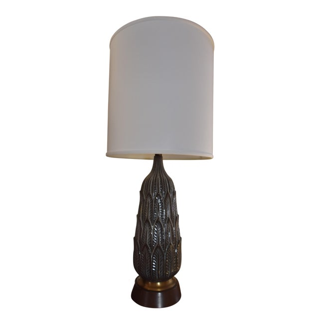 Vintage Mid-Century Porcelain Lamp - Image 1 of 6