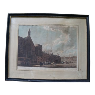 """Vintage Colorful Engraving Titled """"New Palace Yard"""" For Sale"""