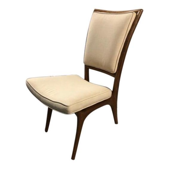 Vladimir Kagan Mid-Century Armless Upholstered Chair For Sale
