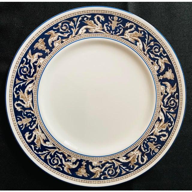 Ceramic Wedgwood Dinner and Salad Plates Florentine, England - Set of 3 For Sale - Image 7 of 10
