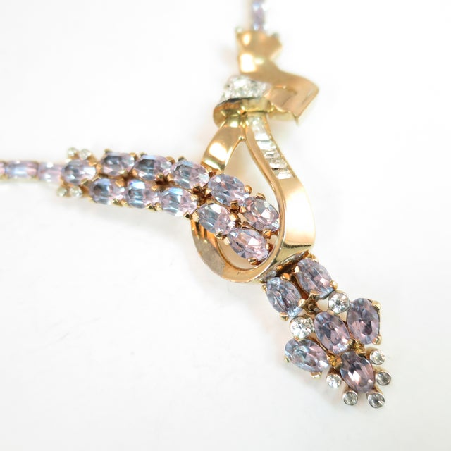Mid-Century Mazer Bros. Alexandrite Crystal Necklace Suite, 1940s For Sale - Image 4 of 11