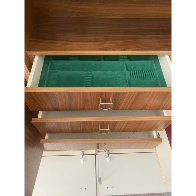 Mid 20th Century 1970s West Germany MCM Mid Century Modern Wood Wall Unit Bar Cabinet For Sale - Image 5 of 13