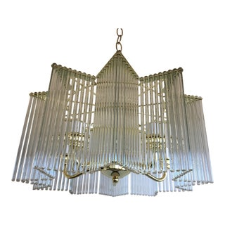 Midcentury Italian Star Chandelier For Sale