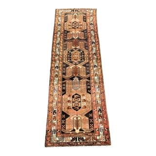 Vintage Persian Meshkin Runner - 3′2″ × 10′6″