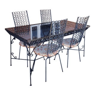 Arthur Umanoff Mid-Century Modern Granada Dining Table with 4 Chairs For Sale