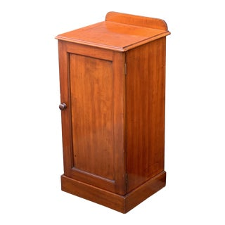 English Nightstand or Bedside Table of Mahogany For Sale