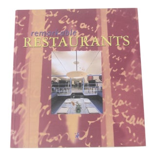 Remarkable Restaurants, Book About Restaurant Design, 1998