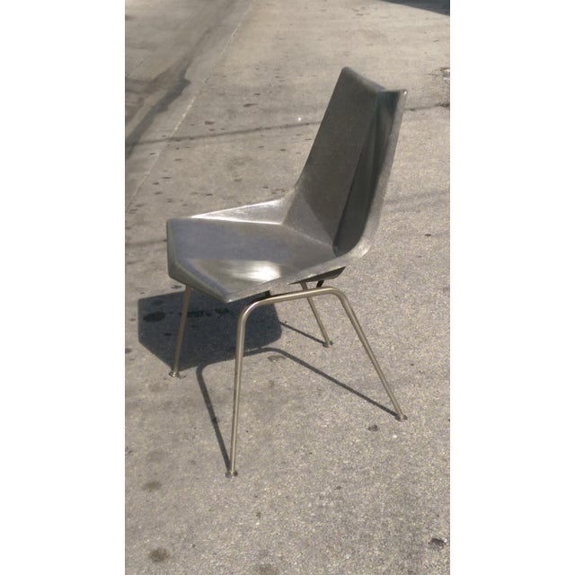 Metal Vintage Paul McCobb Grey Origami Shell Chair For Sale - Image 7 of 7