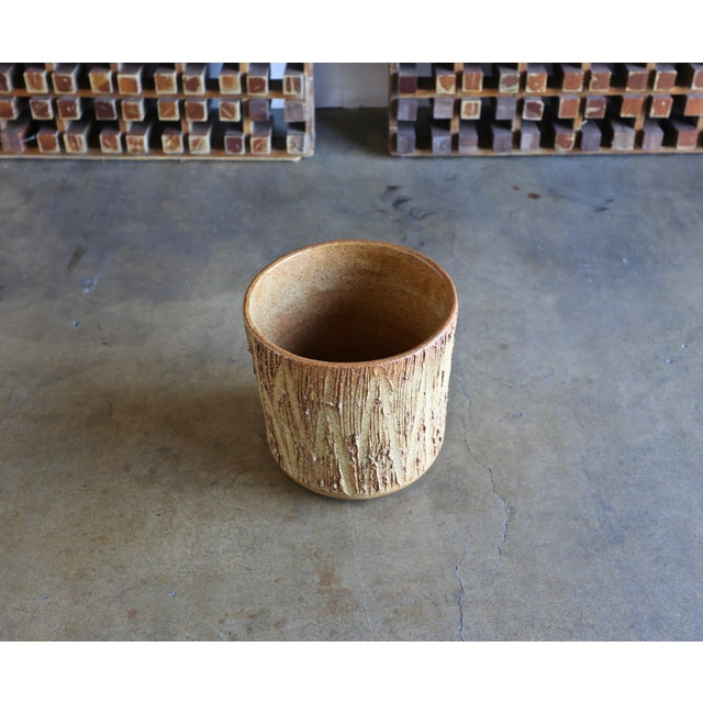 "Ceramic David Cressey "" Scratch "" Texture Planter for Architectural Pottery For Sale - Image 7 of 9"