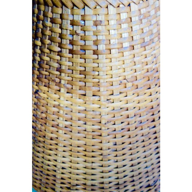 Wicker 1970s Wicker Rattan Lampshade For Sale - Image 7 of 9