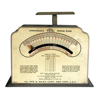 Mid-Century Industrial Postal Scale For Sale