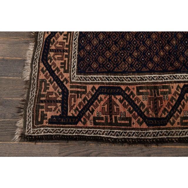 Brown Vintage Medallion Design Wool Rug 3' X 4'4'' For Sale - Image 8 of 13