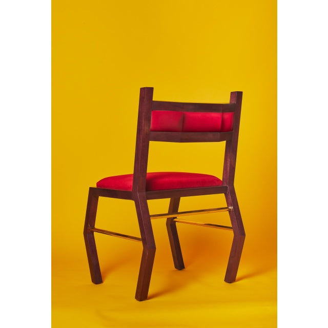 Troy Smith Designs Hex Chair by Artist Troy Smith - Contemporary Design - Artist Proof - Custom Furniture For Sale - Image 4 of 9