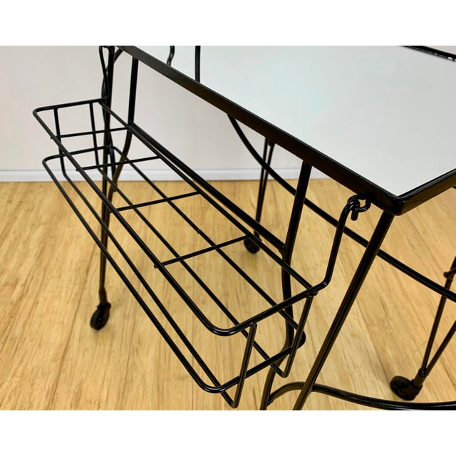 1960s Mid Century John Risley Wire Horse Form Bar Cart For Sale In New York - Image 6 of 11