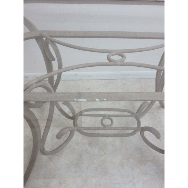 Woodard Furniture Co. Woodard Landgrave Cast Classics Aluminum Outdoor Dining Table For Sale - Image 4 of 6