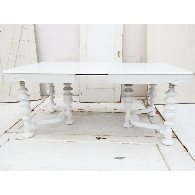 Manor Antique White Dining Table - Image 5 of 5
