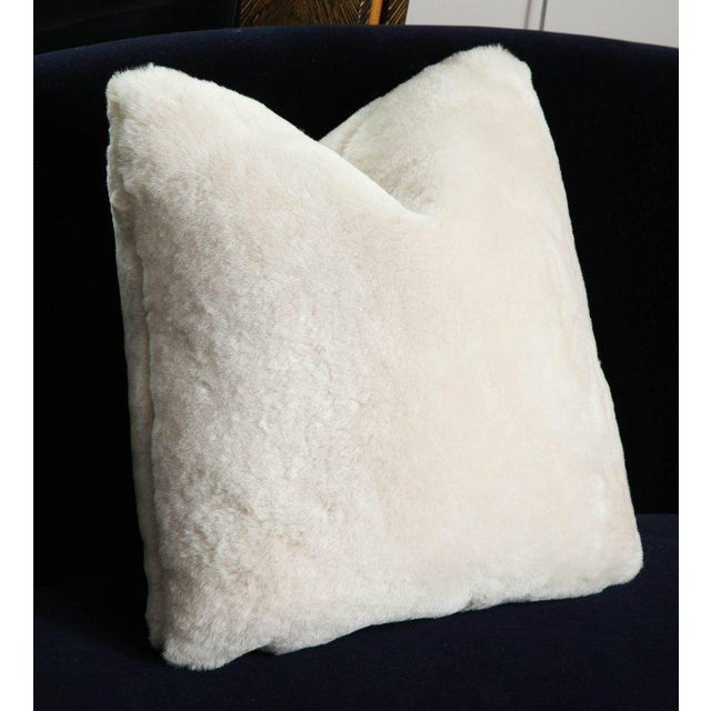 Modern Genuine Shearling Pillow For Sale - Image 3 of 4