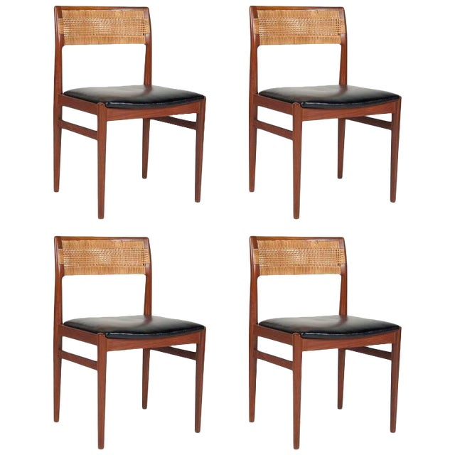 Model W26 Teak Chairs by Erik Worts - Set of 4 For Sale