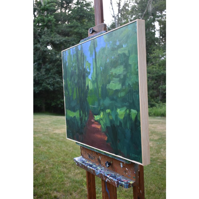 "Paint Stephen Remick ""A Walk in the Woods"" Contemporary Painting For Sale - Image 7 of 12"