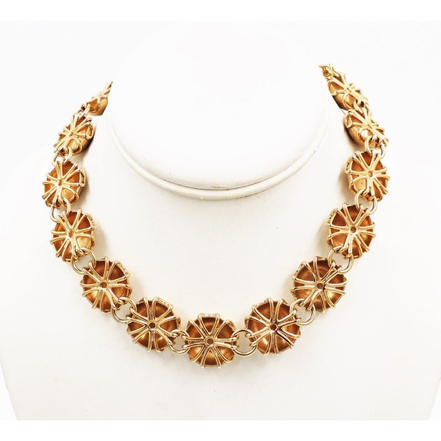 """1950s goldtone florentine finish round links with hook clasp. Marked """"Napier."""" Center; 3/4."""" An identical necklace is..."""